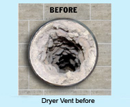 Clogger Dryer Vents Can Lead To Diminished Dryer Efficiency And To Fires